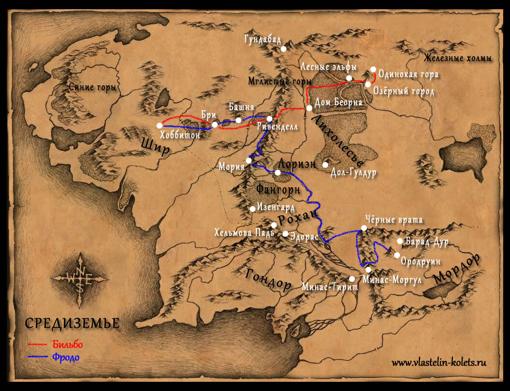a comparison of middle earth and our world in the hobbit by jrr tolkien